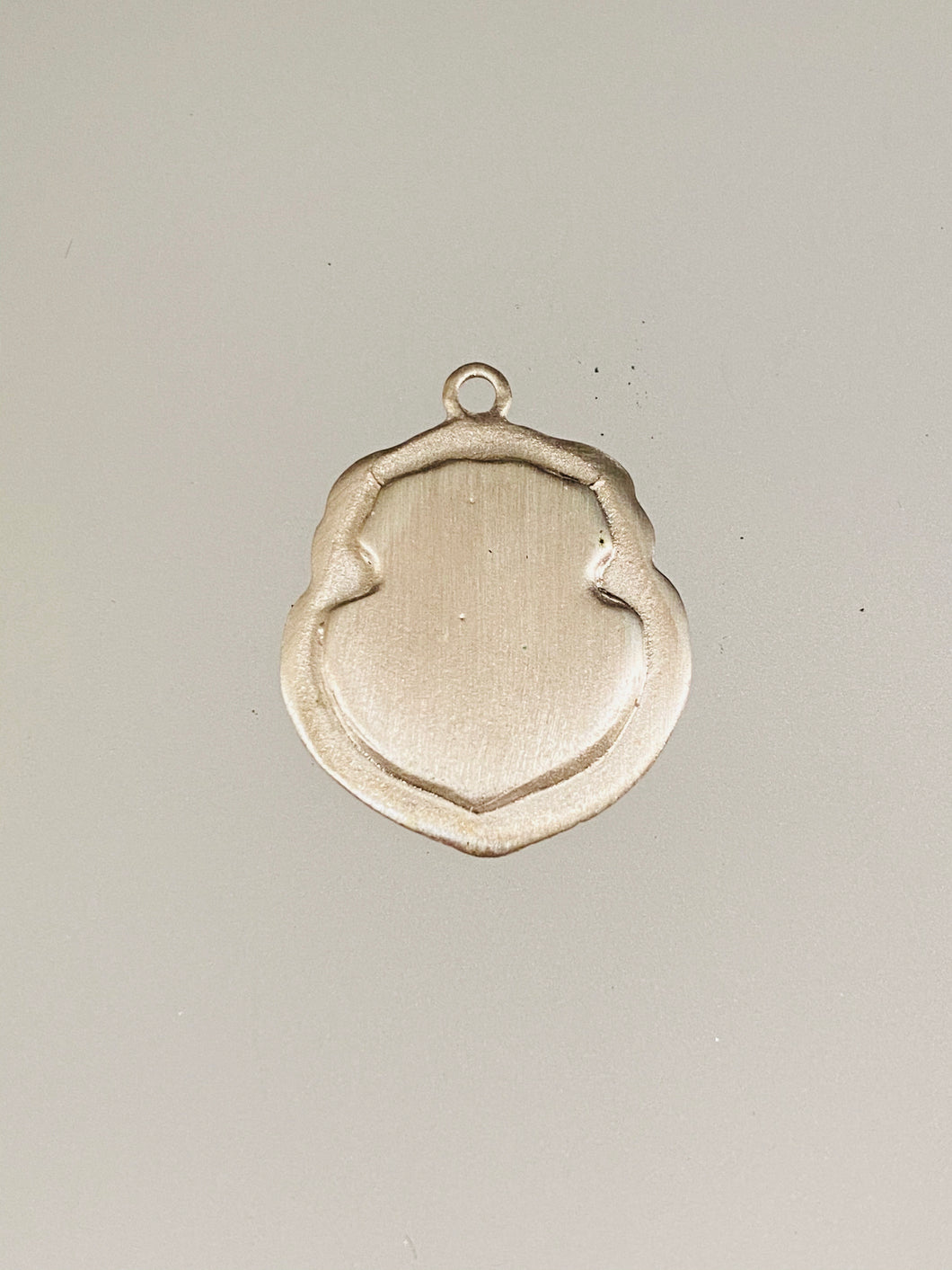 Engraved Large Saddle Shield Initial