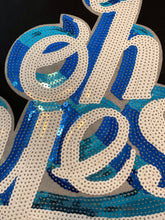 Blue & White Sequin 'Oh Yes' Bag