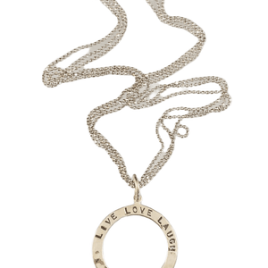 Sterling Silver Live Love Laugh Necklace