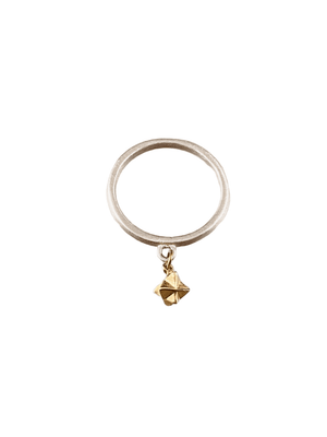 Sterling & 14K Gold Tiny Merkaba Ring Size 5