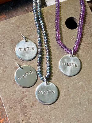 Sterling 'Mama' Charm Necklace