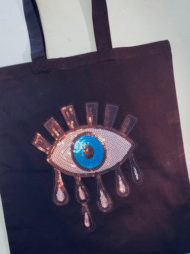 Evil Eye Sequin Bag