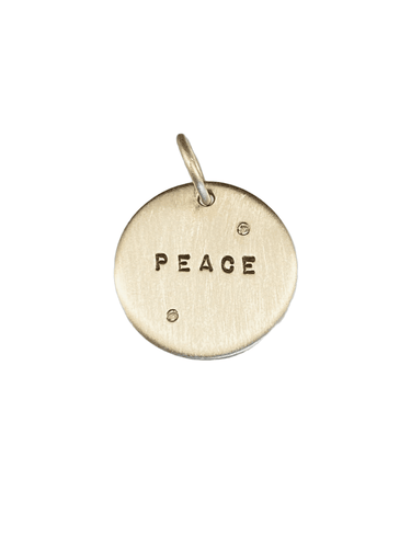 Sterling 'Peace' with Diamonds Charm