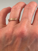 14K Solid Rose Gold LOVE Ring
