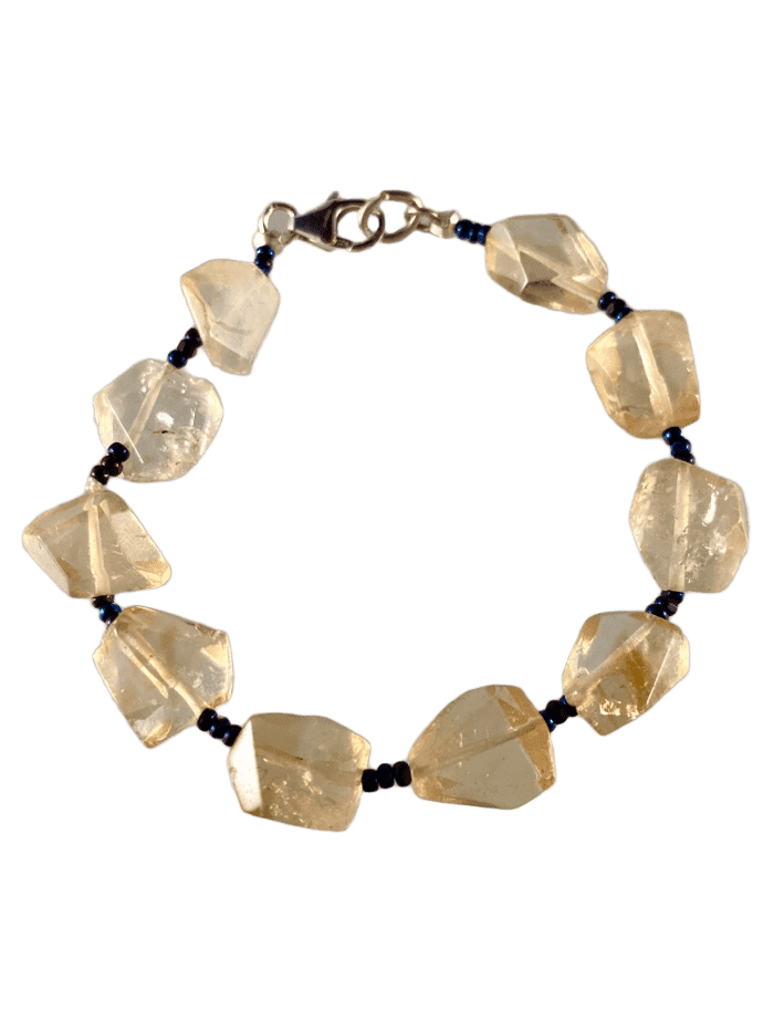 Faceted Citrine Gemstone Bracelet
