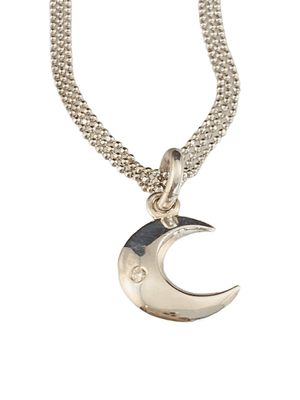 "18""-20"" Sterling Triple Strand Crescent Moon Necklace"