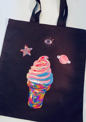 Ice Cream Sequin Bag