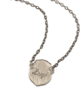 Sterling Silver Laugh Shield Necklace