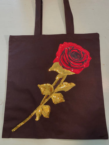 Sequin Red Rose Bag