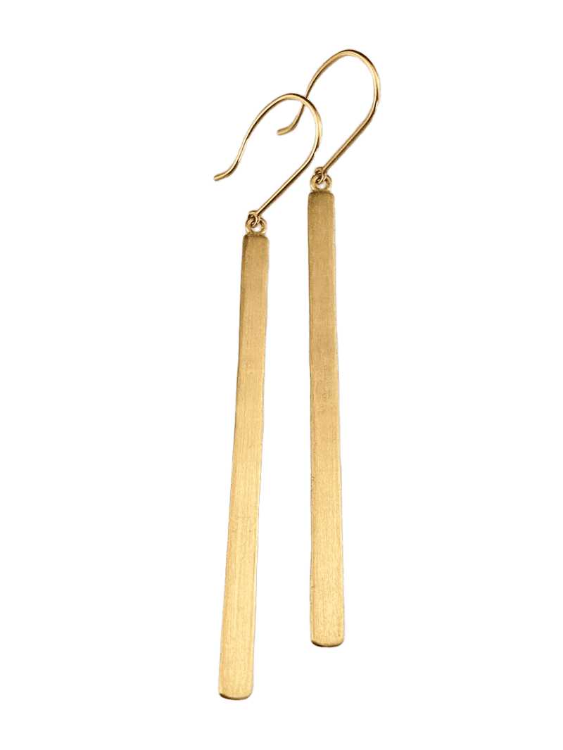 14K Gold Matchstick Earrings