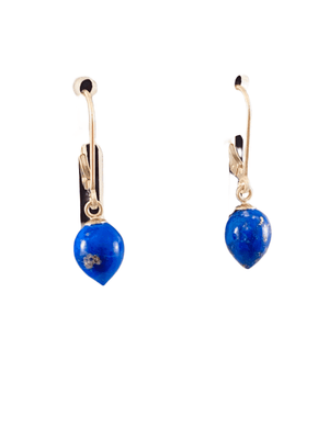 #212 Sterling Lapis Tear Drop Earrings
