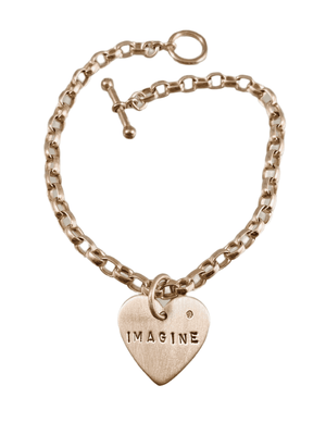 Imagine Heart Charm & Diamond Bracelet
