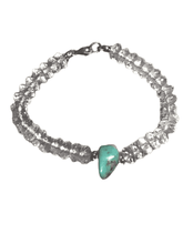 Quartz Crystal and Turquoise Gemstone Bracelet
