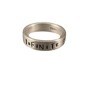 Sterling Word Band Ring Infinite Potential