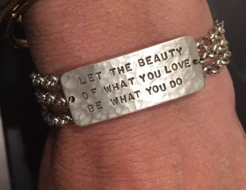 Sterling Silver Custom Personalized Wrap Bracelet