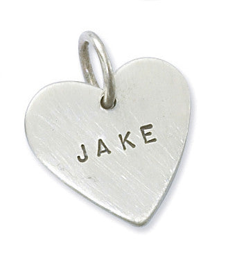 Personalized Sterling Silver Heart Charm