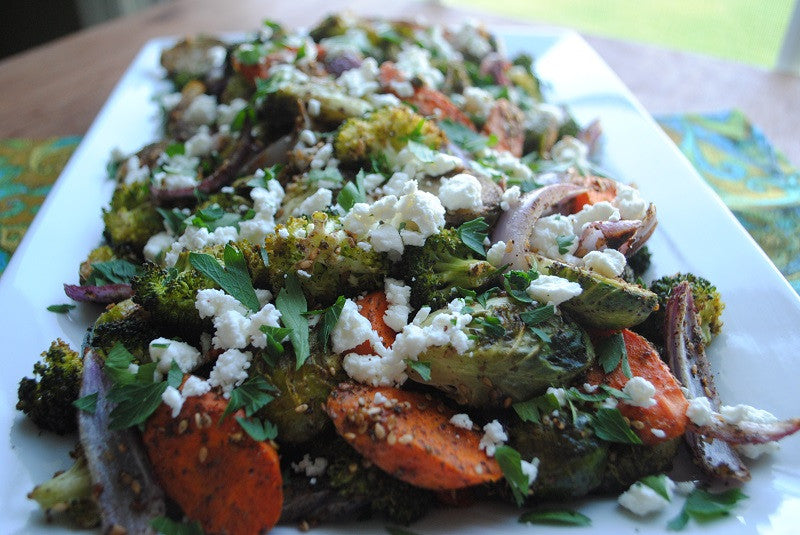Za'atar Roasted Vegetables with Goat Cheese