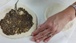 Video - Zatar Flat Bread (Man'oushe / Manaesh / Manakish) Recipe by Tyme Foods