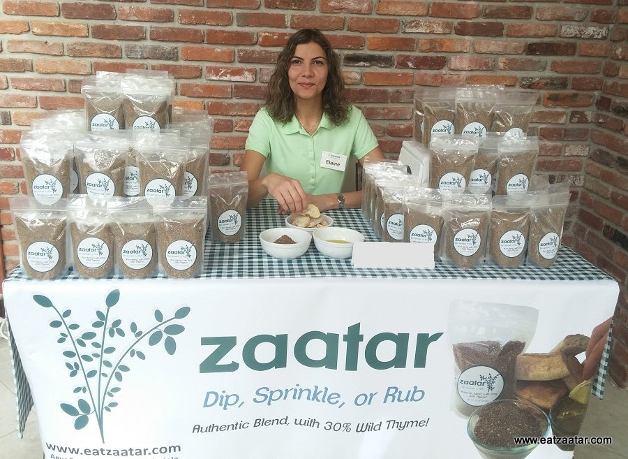 Za'atar stand at farmers market