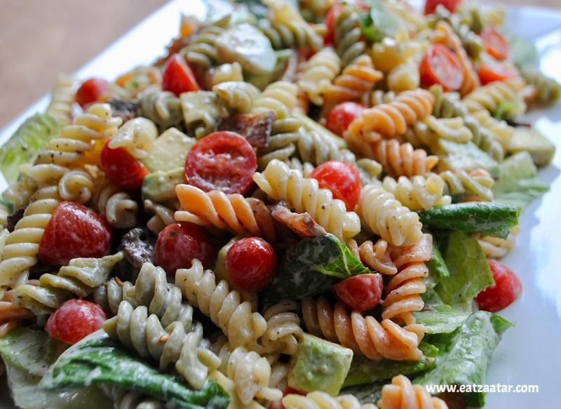 BLT Pasta Salad with Creamy Zaatar Dressing- ready to serve