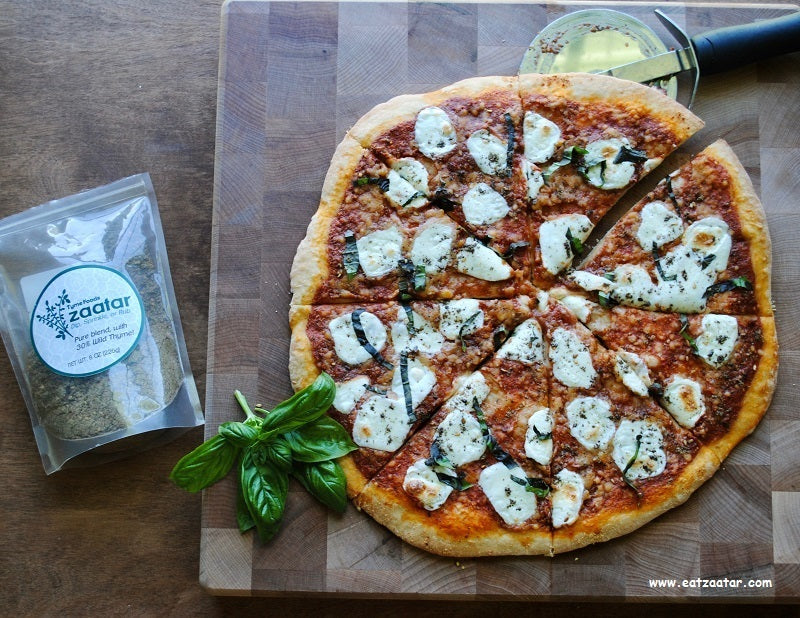 Zaatar Pizza Margherita_ ready to serve