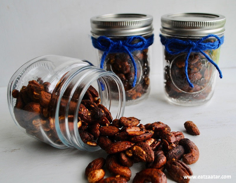 Zaatar Spiced Nuts  ready to enjoy or give it a gift in air tight container