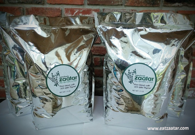 tyme foods bulk zaatar bags 15 pounds or 7 kilograms