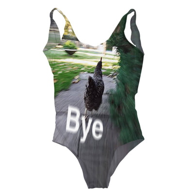 Bye Chicken One Piece Swimsuit