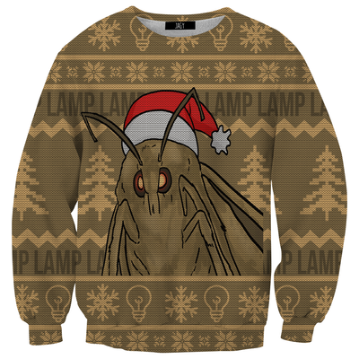 Moth Ugly Christmas Sweater Sweatshirt