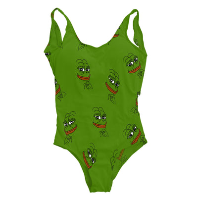 Smirk Pepe One Piece Swimsuit