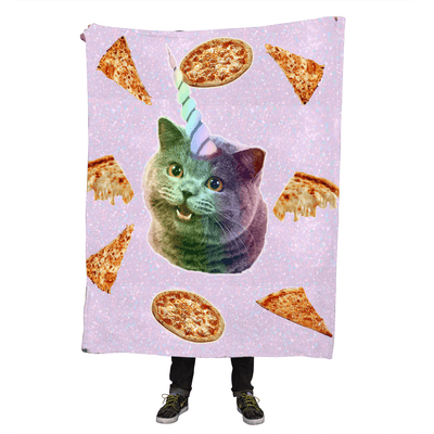 Blankets - Cat Unicorn Throw Blanket