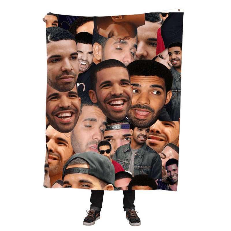 Blankets - Drake Collage Throw Blanket