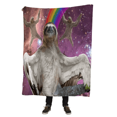 Blankets - Flying Sloth Throw Blanket
