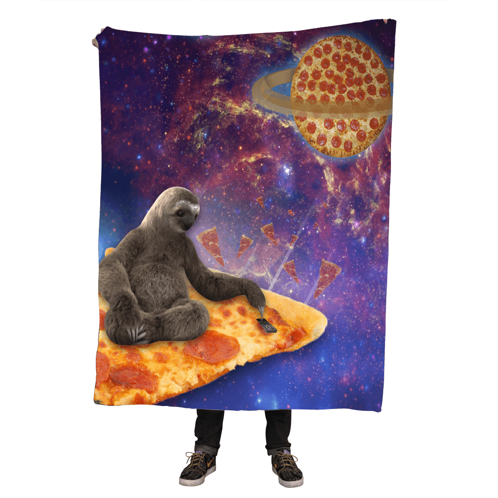 Blankets - Pizza Sloth Throw Blanket