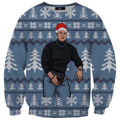 Fanny Pack Meme Guy Ugly Christmas Sweater Sweatshirt