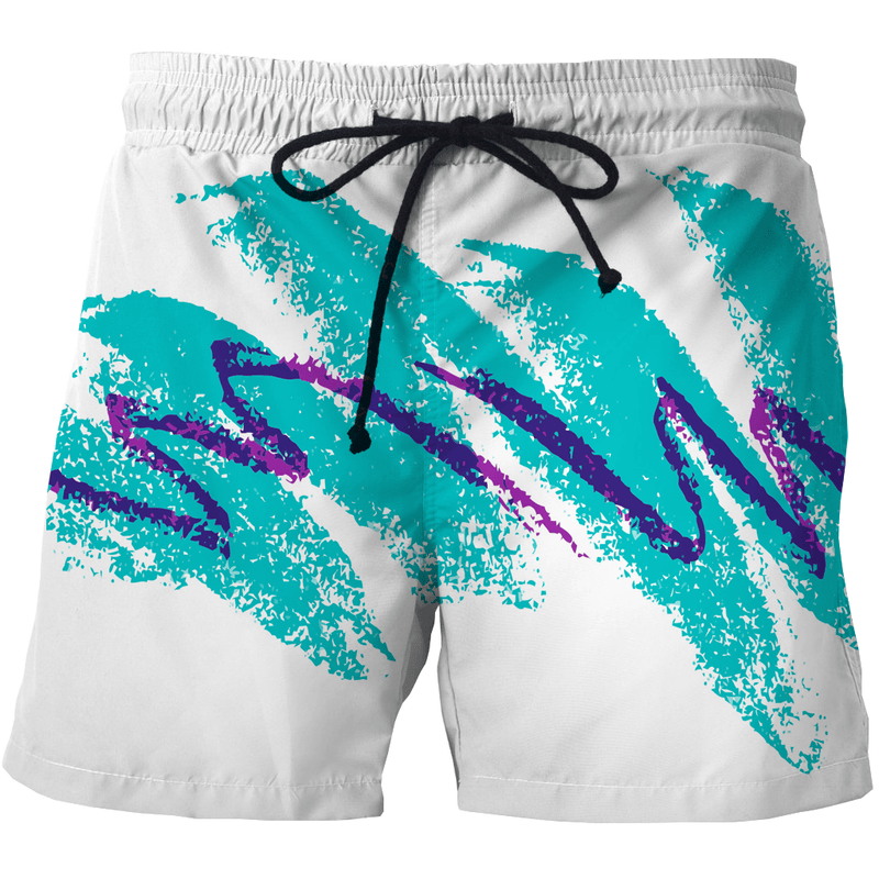 Shorts - 90s Cup Pattern Shorts