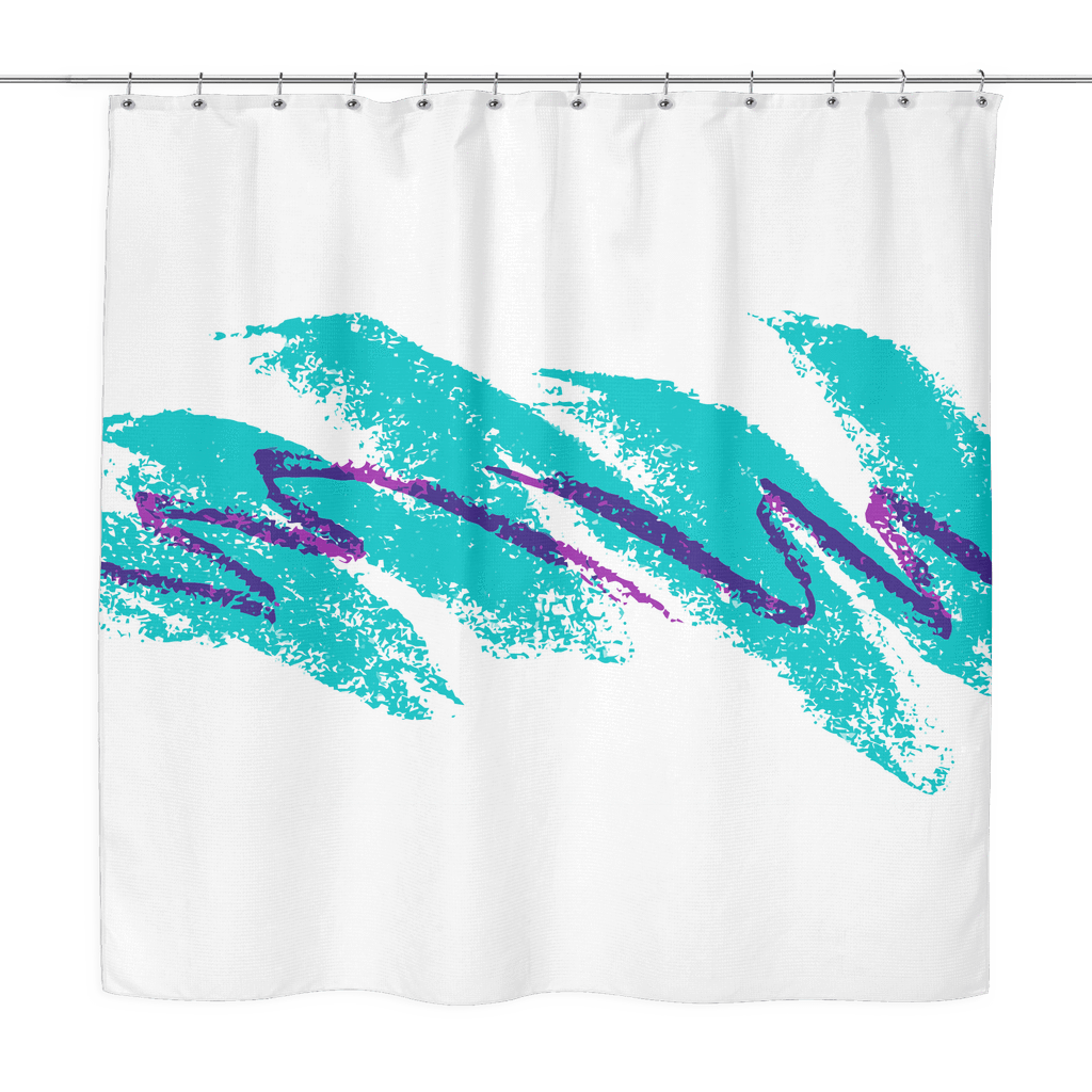 90s Jazz Wave Shower Curtain Jagy