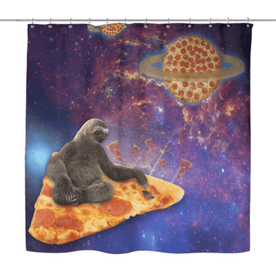 Shower Curtains - Galaxy Sloth Shower Curtain
