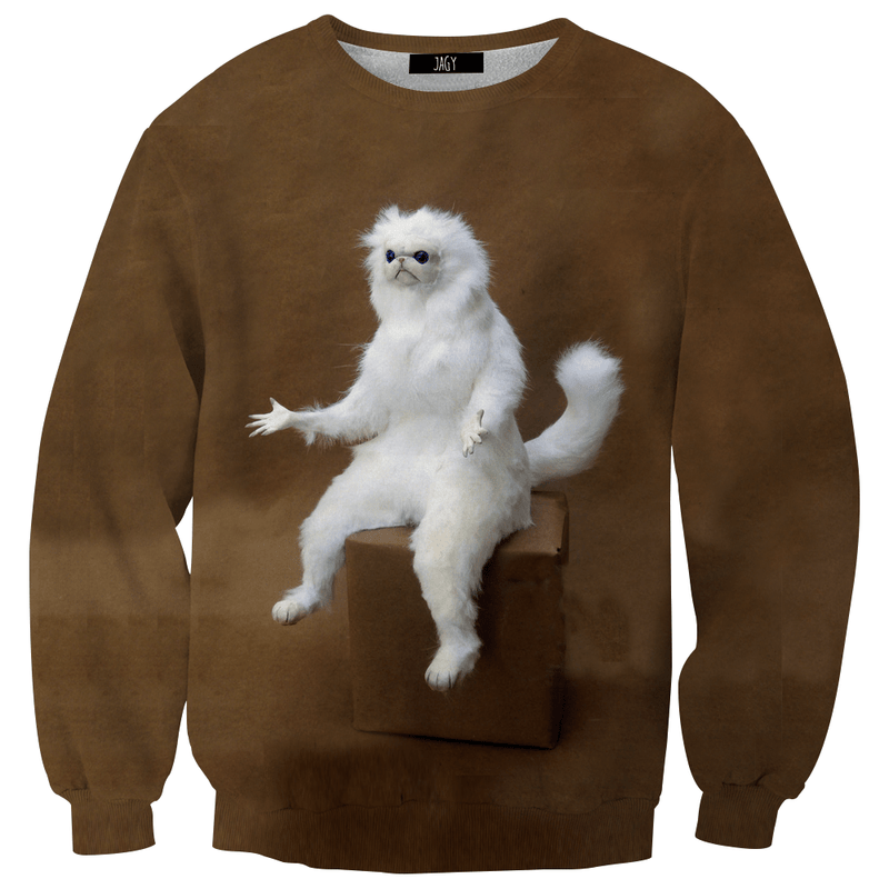 Sweater - Confused Persian Cat