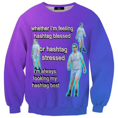 Sweater - Hashtag Blessed Sweatshirt