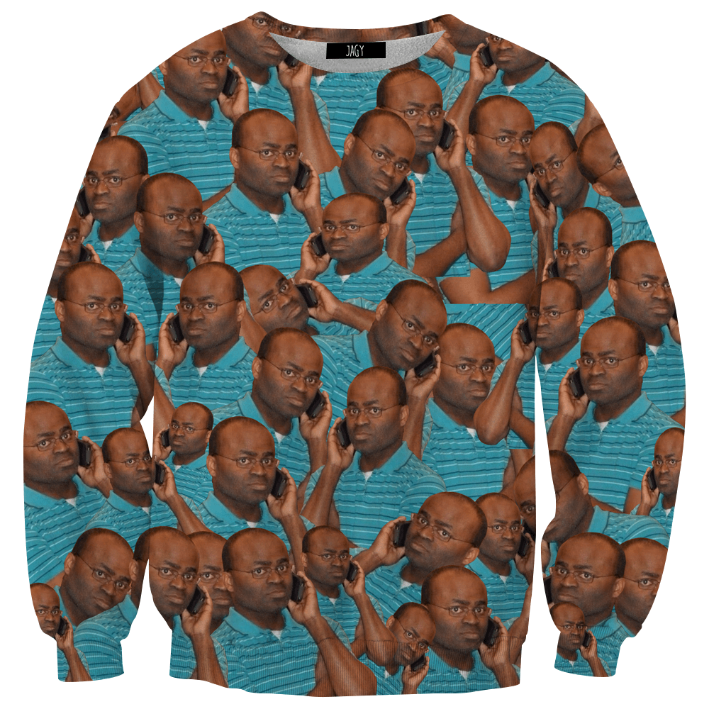Sweater - On The Phone Meme Sweatshirt