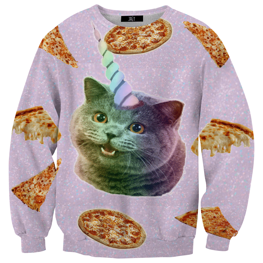 Sweater - Pizza Kitty