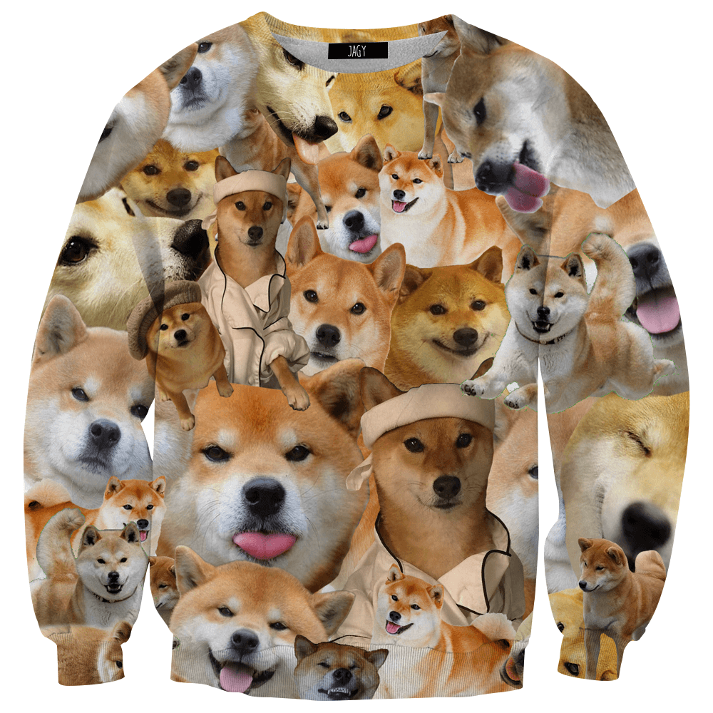 Sweater - Shiba Inu Collage Sweatshirt