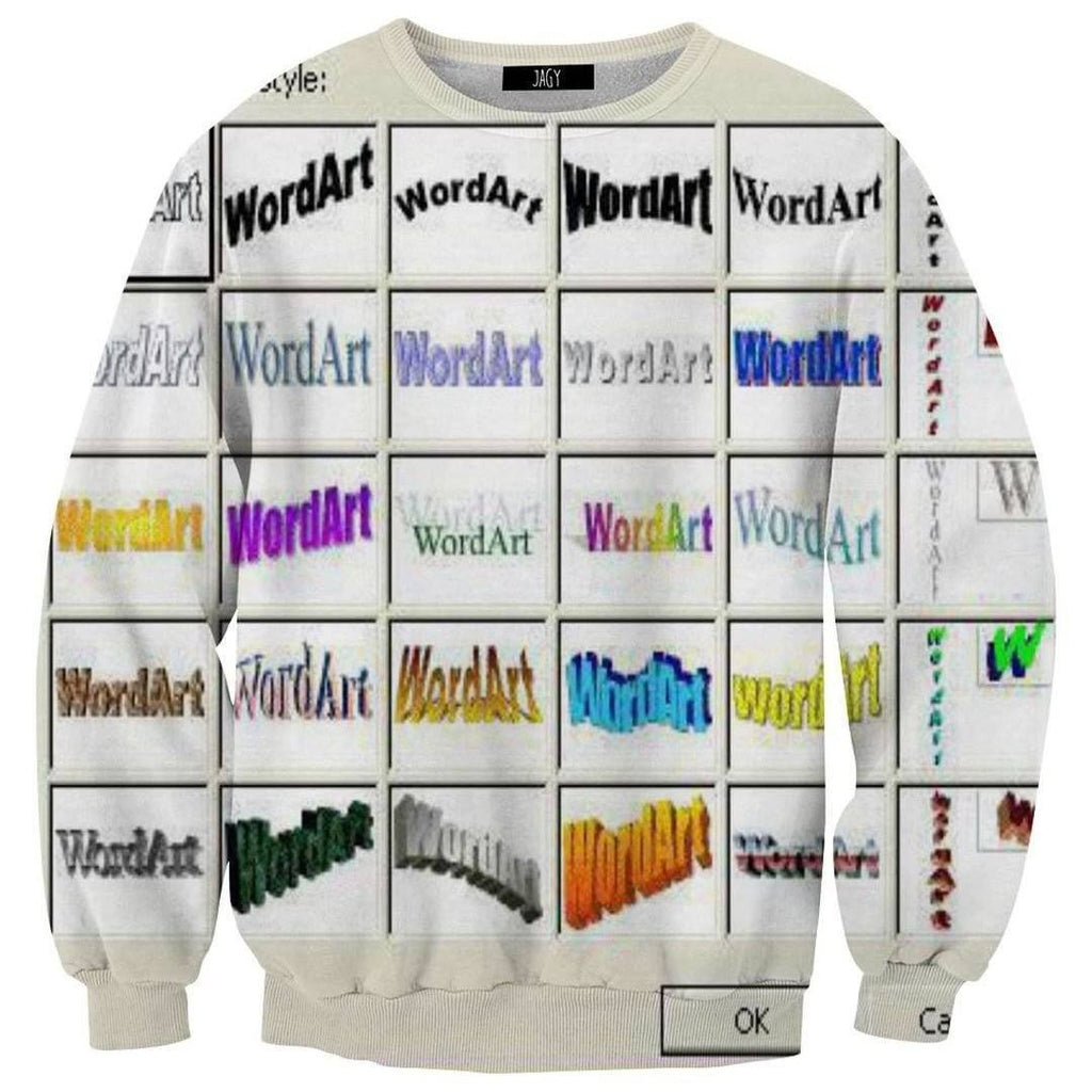 Sweater - Wordart Selection