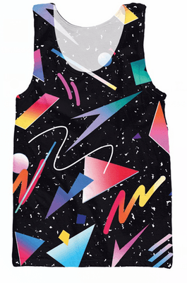 Tank Tops - 80s Decal
