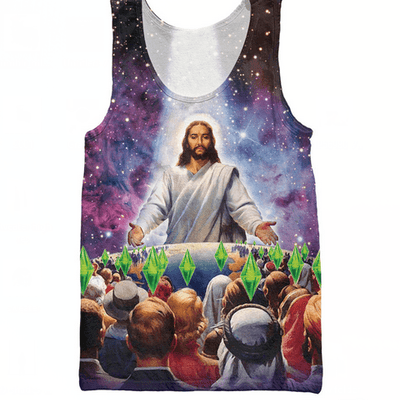 Tank Tops - Jesus Died For Your 'Sims'