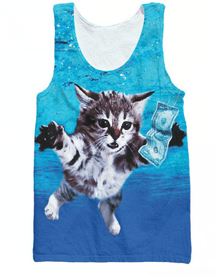 Tank Tops - Nirvana Cat