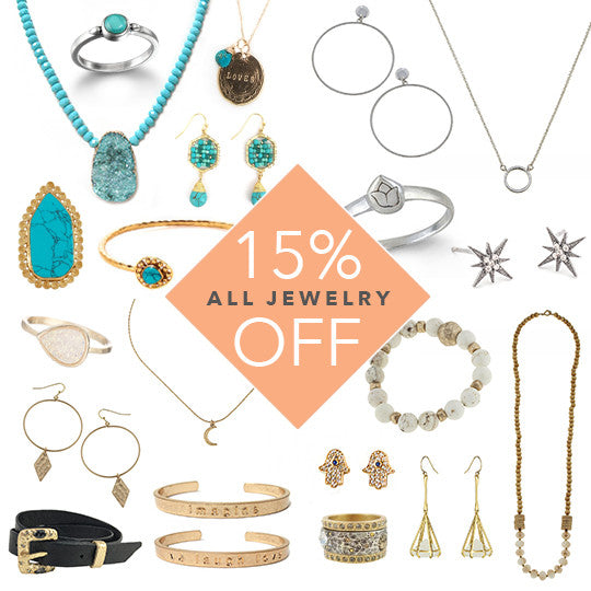 Sale alert: 15% Off All Jewelry!