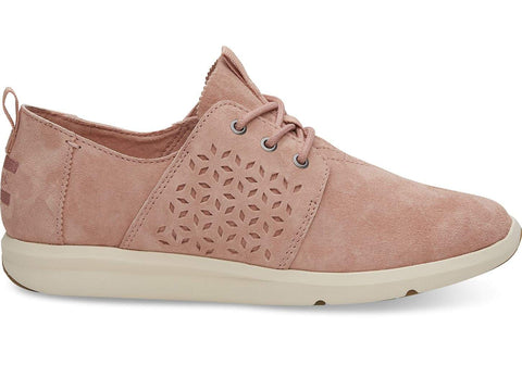 Toms Del Rey Perforated Suede Blush Pink Sneaker