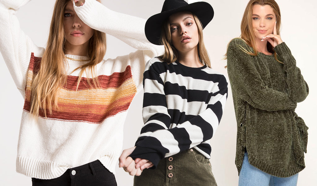 sweaters fall fashion 2018 stripes knit